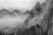 High Sierra Metal Prints - Low Clouds - Yosemite Valley Metal Print by Stephen  Vecchiotti