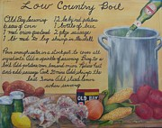 Southern Comfort Prints - Low Country Boil Print by Paula Robertson