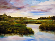 South Carolina Low Country Marsh Paintings - Low Country by Phil Burton