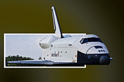 Space Shuttle Enterprise Posters - Low Pass Poster by Lawrence Ott