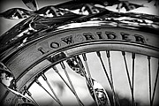 Lowrider Prints - Low Rider in Black and White Print by Tam Graff