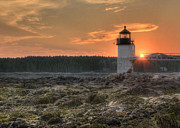 Maine Lighthouses Photo Posters - Low Tide - Marshall Point Poster by Lori Deiter