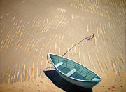 Rowboat Digital Art Originals - Low Tide by Anthony Ross