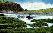 Low Tide Paintings - Low Tide in Dungarvan by Tom Hedderich