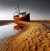 Orange Photos - Low Tide by Peter OReilly