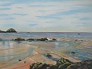 Murray Mcleod Art - Low tide-Shelly Beach by Murray McLeod