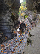 Watkins Glen State Park Prints - Low Water Print by Joshua House
