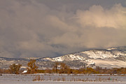 Rocky Mountain Foothills Framed Prints - Low Winter Storm Clouds Colorado Rocky Mountain Foothills 2 Framed Print by James Bo Insogna