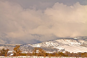 Rocky Mountain Foothills Posters - Low Winter Storm Clouds Colorado Rocky Mountain Foothills 4 Poster by James Bo Insogna