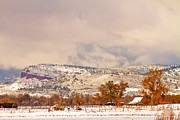 Lyons Prints - Low Winter Storm Clouds Colorado Rocky Mountain Foothills 6 Print by James Bo Insogna