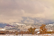 Lyons Prints - Low Winter Storm Clouds Colorado Rocky Mountain Foothills 7 Print by James Bo Insogna