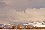 Rocky Mountain Foothills Posters - Low Winter Storm Clouds Colorado Rocky Mountain Foothills 8 Poster by James Bo Insogna
