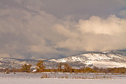 Rocky Mountain Foothills Framed Prints - Low Winter Storm Clouds Colorado Rocky Mountain Foothills Framed Print by James Bo Insogna