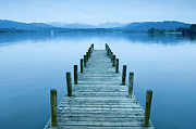 Landing Stage Prints - Low Wood Hotel Jetty On Lake Windermere In The Lake District, Lake Windermere, Cumbria, England Print by VisitBritain/Rod Edwards