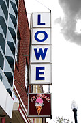 Electric Signs Prints - Lowe Drug Store Sign Color Print by Andee Photography