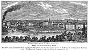 Concord Metal Prints - Lowell: Factories, 1844 Metal Print by Granger