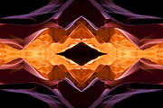 Symmetry Axis Posters - Lower Antelope Canyon Eye Poster by Gregory Scott