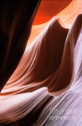 Slots Prints - Lower Antelope Slot Canyon Print by Sandra Bronstein