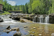 Michigan Waterfalls Prints - lower Au Train Print by Michael Peychich