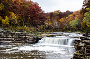 Indiana Autumn Posters - Lower Cataract Falls Poster by Sophie Doell