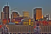 Skyscapers Framed Prints - Lower Downtown Denver at Dusk Framed Print by Kevin Munro