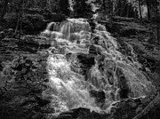 Monochrome Art - Lower Eagle Falls Lake Tahoe by Scott McGuire