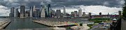 East Side Posters - Lower Manhattan from Brooklyn panorama 2 Poster by Gary Eason