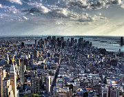 Manhattan Digital Art Originals - Lower Manhattan From Empire State Building by Joe Paniccia