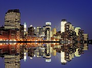 Reflection Art - Lower Manhattan Skyline by Sean Pavone