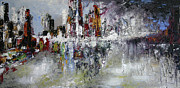 Vital Germaine Paintings - Lower Manhattan by Vital Germaine