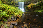 State Parks In Oregon Metal Prints - Lower South Falls Metal Print by Adam Jewell