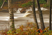 Michigan Waterfalls Prints - Lower Tahquamenon Falls 5 Print by Michael Peychich