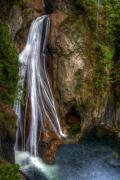 Washington Prints Prints - Lower Twin Falls Print by James Marvin Phelps