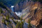 Yellowstone Posters - Lower Yellowstone Falls Poster by Idaho Scenic Images Linda Lantzy