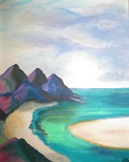 Waters Pastels - Lowtide Carribean Pastel by Judy Via-Wolff
