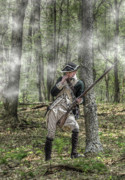 Reenactment Art - Loyalist Skirmisher  American Revolution by Randy Steele