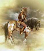 Native American Digital Art Prints - Lozen Print by Shanina Conway