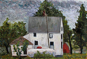 Rural Life Painting Framed Prints - Lp Monet Framed Print by Charlie Spear
