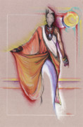 African American Drawings Originals - LPR Black Woman by Anthony Burks