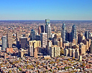 Aerial Photo Of Philadelphia Posters - LRG Format Aerial Philadelphia Skyline 226 W Rittenhouse Sq 100 Philadelphia PA 19103 5738 Poster by Duncan Pearson