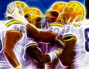 Football Mixed Media - LSU Magical by Paul Van Scott