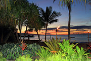 Luau Sunset Maui Print by Pierre Leclerc Photography