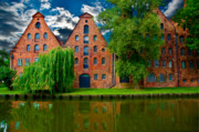 Brick Buildings Framed Prints - Lubeck Framed Print by Harry Spitz