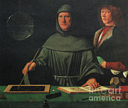Luca Framed Prints - Luca Pacioli, Franciscan Friar Framed Print by Science Source