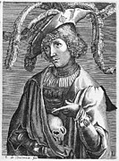 Scull Framed Prints - LUCAS van LEYDEN Framed Print by Granger