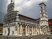 Lucca Framed Prints - Lucca Italy - San Michele in Foro Framed Print by Gregory Dyer