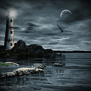 Lighthouse Digital Art - Lucent Dimness by Lourry Legarde
