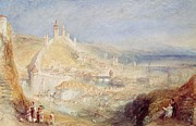 Switzerland Paintings - Lucerne from the Walls by Joseph Mallord William Turner
