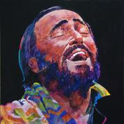 Music Legend Painting Framed Prints - Luciano Pavrotti Framed Print by David Lloyd Glover