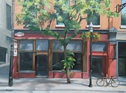 Bistro Paintings - Lucien by Rita-Anne Piquet